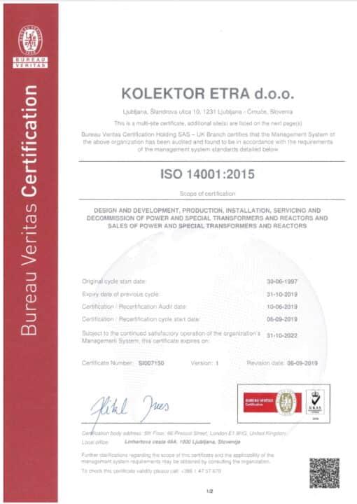 Etra ISO14001