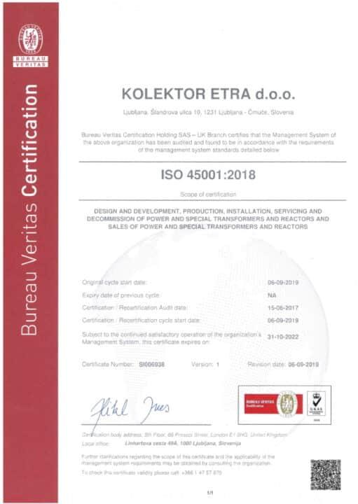 Etra ISO45000