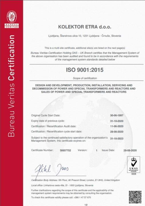 Etra ISO9001