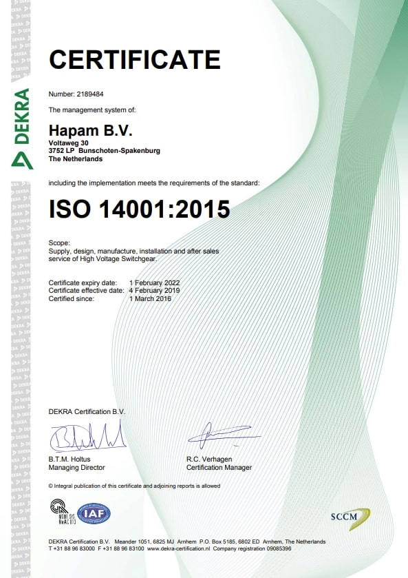 Hapam ISO14001