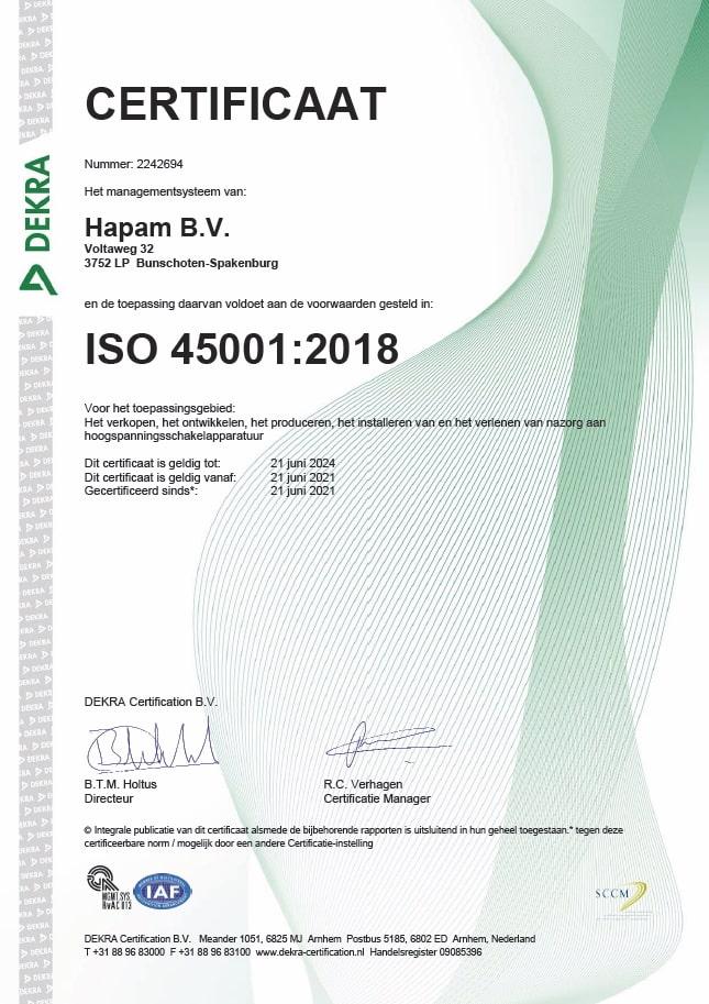 Hapam ISO45001