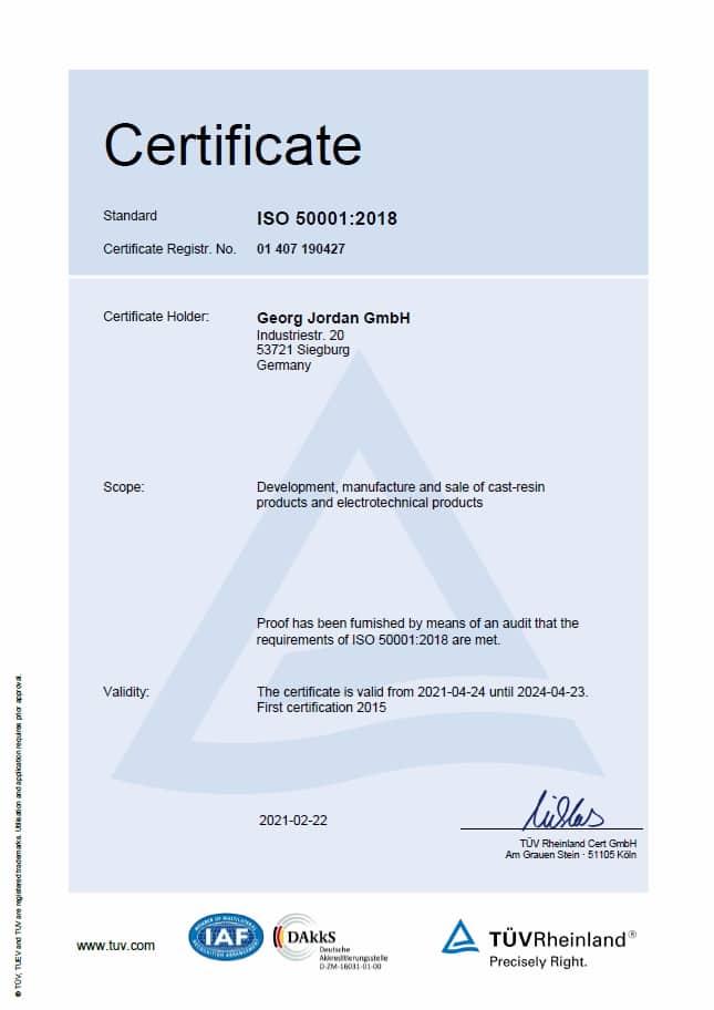 Jordan ISO 50000