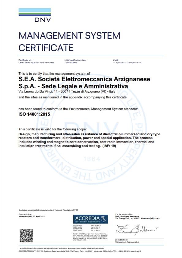 SEA ISO14001