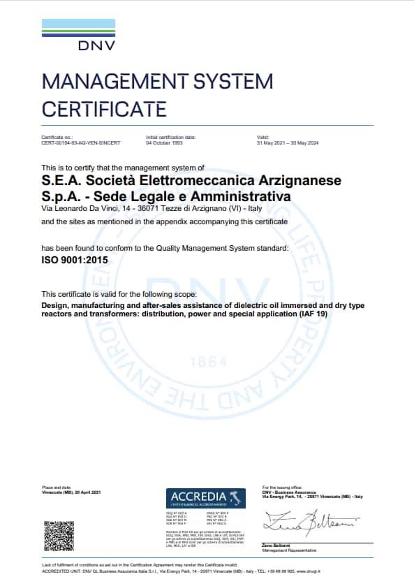 SEA ISO9001